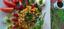 Sałatka z szpinakiem, cieciorką i ziołowym sosem